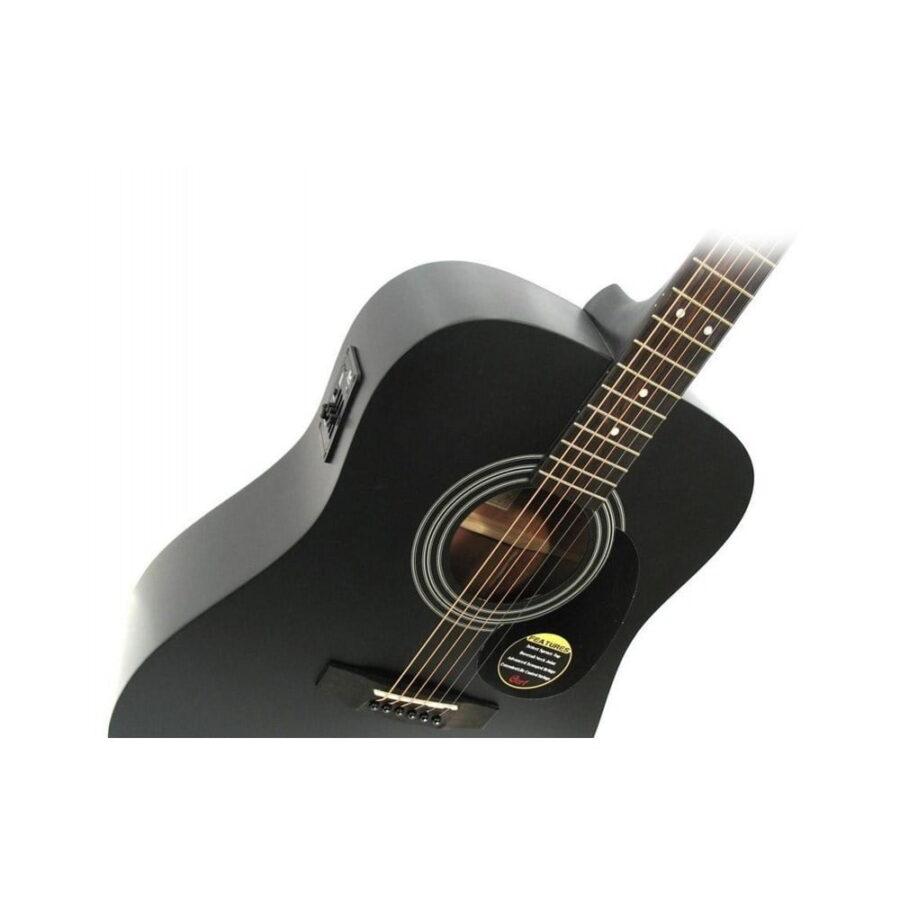 Guitarra Electroacústica cort ad810 bks negra - 3