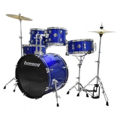 bateria acustica ludgiw accent drive azul - 1