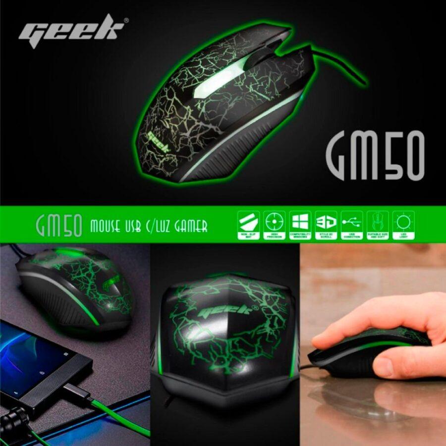 MOUSE-LUZ-GAMER-GM50 Marca Geek