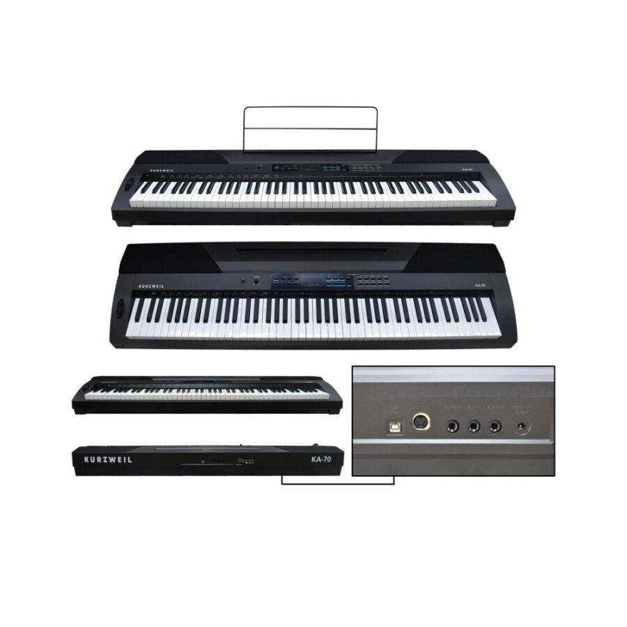 PIANO DIGITAL 88 TECLAS SENSIBILIDAD AJUSTABLE 20 PRESETS - - KA70