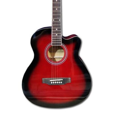 Guitarra Acústica Roja C/forro-vitela 40″ Pulgadas – Fanatic -1