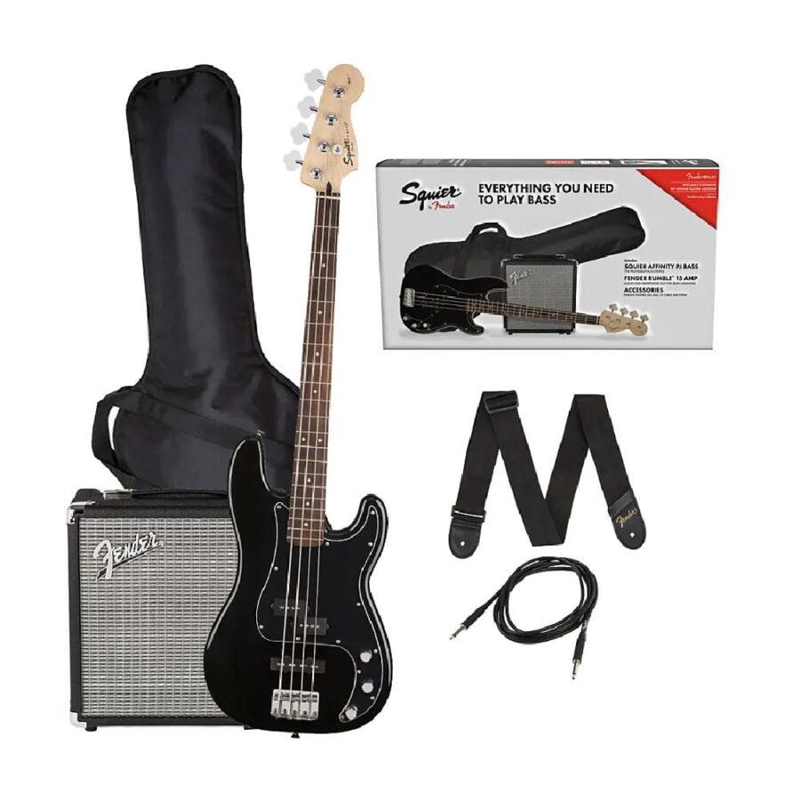 Kit Combo Bajo Eléctrico + Amplif. Rumble 15 - Squier Fender --1