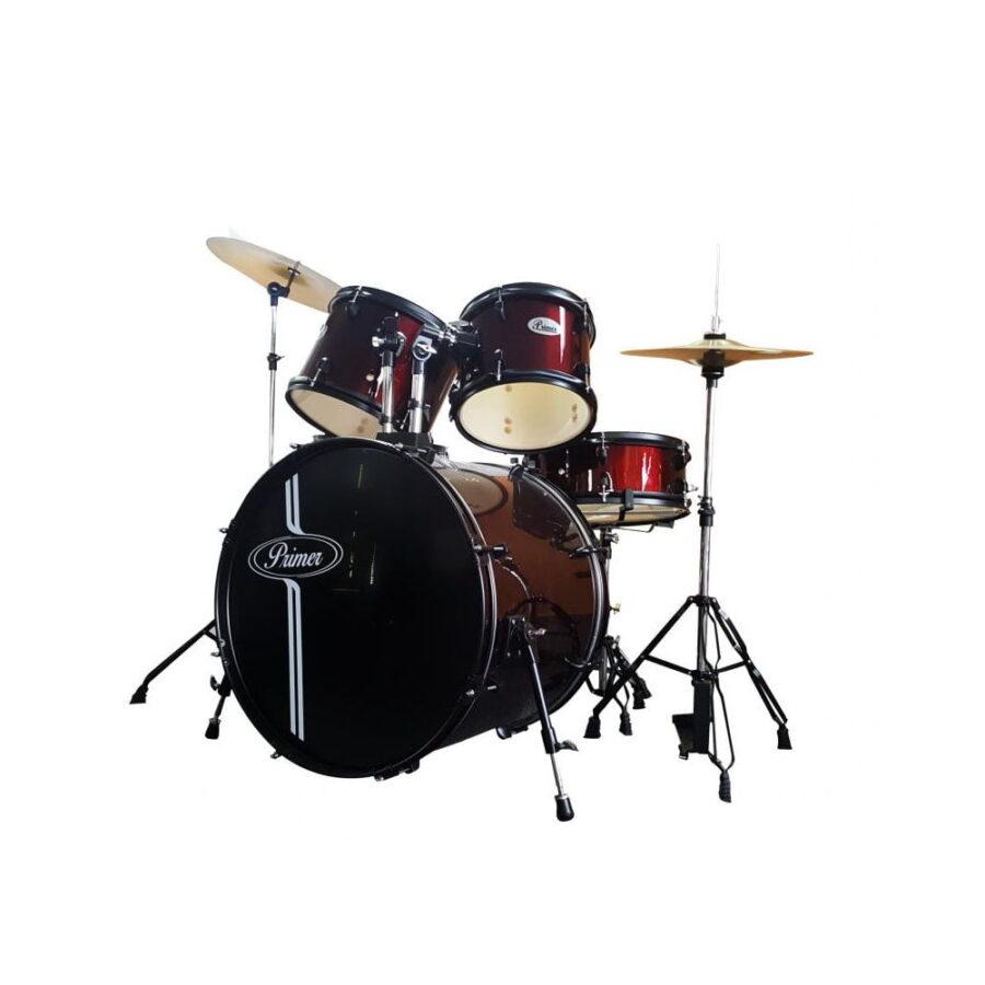 Batería Acústica Completa 7 Piezas /Baquetas/Asiento - Primer-1