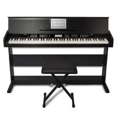 Piano digital de 88 teclas con soporte y banco ajustable-1
