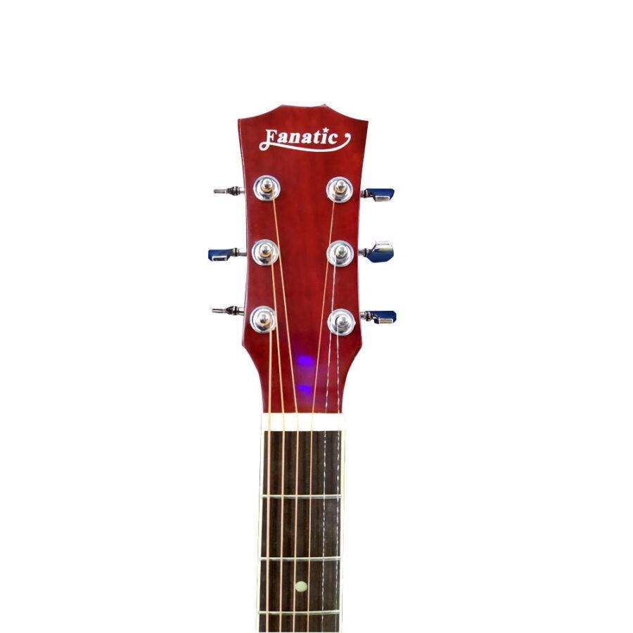 Guitarra Acústica Roja C/forro-vitela 40″ Pulgadas – Fanatic -2
