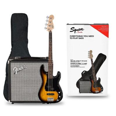 Kit Combo Bajo Eléctrico + Amplif. Rumble 15 - Squier Fender -1