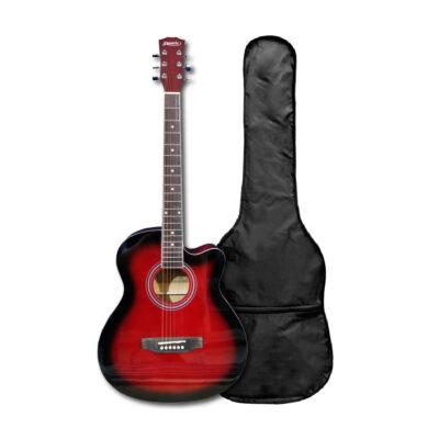 Guitarra Acústica Roja C/forro-vitela 40″ Pulgadas – Fanatic