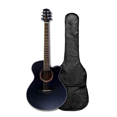 Guitarra Acústica Negra Open Pore 40″ Pulgadas – Fanatic