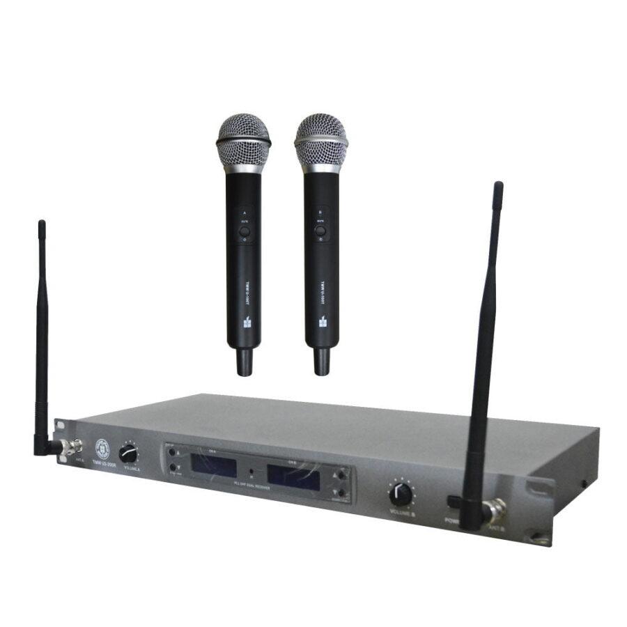 Micrófono Inalambrico Profesional uhf Doble - Topp Pro TWM-U2.200R - 4