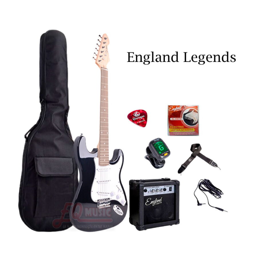 Kit-Guitarra-Electrica-England-Legends---Negro